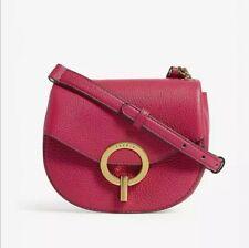 Sandro PM Grained Leather Shoulder Bag, Fuscia Pink & Dust Bag
