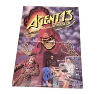 VINTAGE 1986 AGENT 13 THE MIDNIGHT AVENGER 21X15 TSR POSTER UNUSED NEVER HUNG