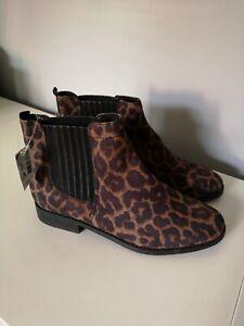 Next Women's Leopard Print Boots Size 7