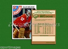 Gilles Meloche - Cleveland Barons - Custom Hockey Card  - 1977-78