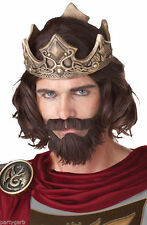 Medieval King Wig Mustache Beard Renaissance Warrior Prince Musketeer Pirate Guy