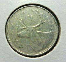 Canada  1965  25 Cents  .800 Silver  Quarter