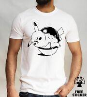 Funny Fat Pikachu T shirt Pokemon Parody Tee Cool Anime Cartoon Novelty Top Mens