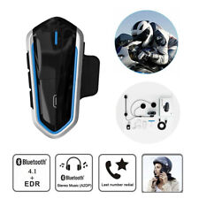 QTB35 Waterproof Motorcycle Helmet Bluetooth Intercom Headset FM Radio Headphone