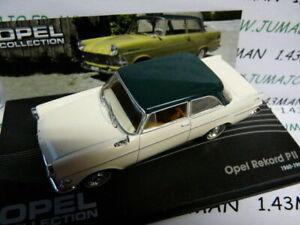 OPE47 voiture 1/43 IXO OPEL collection : REKORD p II 2 blanche toit vert