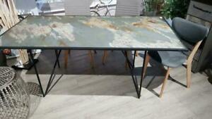 Tisch Esstisch Schiefer Metall 1,80 x 90cm unbenutzt Ausstellungsstück