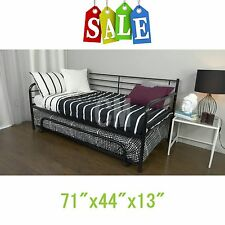 Black Trundle Guest Kids Bed Metal frame Twin size - Bedroom Home NEW!