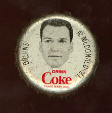 1964 65 COCA-COLA COKE BOTTLE CAP WITH CORK AB McDONALD EX-NM BOSTON BRUINS