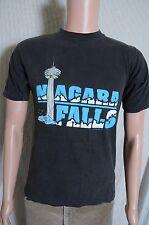 Vintage '90s Niagra Falls faded broken in tourist souvenir black t shirt S