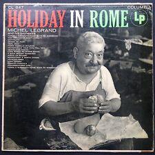 Vacances à Rome World Travel Jazz Folk LP MICHEL LEGRAND'55 Vian Denza Mandoline