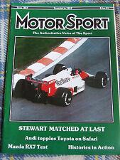 MOTOR SPORT MAGAZINE JUN 1987 STEWART MATCHED AT LAST AUDI TOPPLES TOYOTA SAFARI