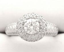 PLATINUM DIAMOND ENGAGEMENT RING 1.00 CARAT CERTIFIED