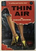 THIN AIR by Howard Browne | VTG 1954 Dell Paperback Mystery Book No. 894 | Good+