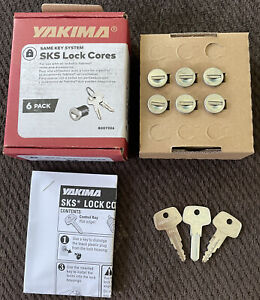 Yakima SKS Lock Cores 6 Pack #A145 W/ Keys + Control Key -Brand New In Box