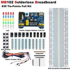 Solderless Breadboard Protoboard Mb 102 830 Tie Points Test Circuit Pcb Set Kit
