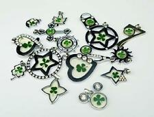 36pc wholesale lots four leaf green clover metal mix style pendants HS001