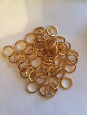 500 Lord Of The Rings Movie Ring Scrap 24kt Gold Plated Heavy 6 1/2 Etched