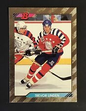 TREVOR LINDEN 1992-93 BOWMAN HOCKEY GOLD FOIL ALL-STAR CARD #210 CANUCKS MINT *8
