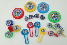 20 Pce PAW PATROL Birthday Party Favour Toys Prizes Whistles-Sharpeners-Rings ..