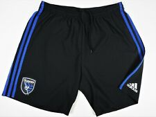 San Jose Earthquakes Black Shorts Adidas Climalite Adizero Soccer Shorts Sz L