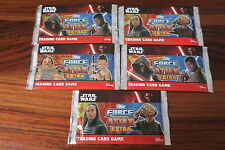 5 BOOSTERS  STAR WARS - FORCE ATTAX EXTRA  - TOPPS   -- NEUF / NEW