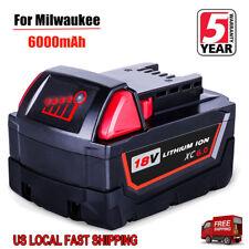For Milwaukee 18V 6.0Ah Lithium XC 6.0 Battery  M18 M18B4 48-11-1828 48-11-1850