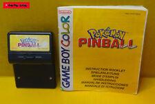 POKEMON PINBALL + Anleitung - GameBoy Color Spiel, gebraucht, Funktion getestet
