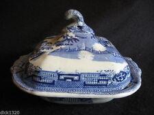 Blue & White Transfer Ware Pottery Tureens