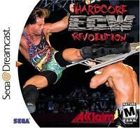 ECW Hardcore Revolution Sega Dreamcast Game Used Complete