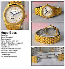 Hugo Boss Women's Watch 10 Bar Stainless Steel Gold-plated Swiss Made