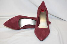 """NINE WEST Burgundy Leather Pointed Toe """"ACTT"""" Classic Pumps Womens Size 10-B7"""