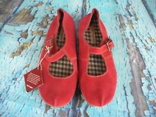 *NEW* Hush Puppies Red Leather Mary Jane Comfort Shoes Women's Size: 7.5 W