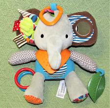"SKIP HOP POTTERY BARN KIDS ELEPHANT RATTLE BABY PLUSH STUFFED ACTIVITY TOY 8.5"""