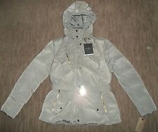 Cole Haan Down Insulated Topaz Tan Hooded Winter Jacket Womens Size XL RT