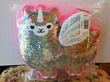 Brand New Justice Llama Unicorn Sequin Pillow