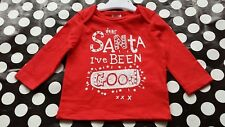 BNWT Baby girls/boys/unisex red Christmas Santa cotton top/T shirt 0-3 months