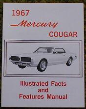 1967 Mercury Cougar Facts Manual Brochure 67