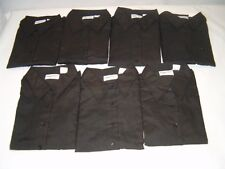 Lot of 7 Womens Size Large Black Long Sleeve Dress Shirts by Image First - NEW!