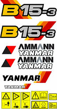 YANMAR b15-3 Escavatore decalcomania Set