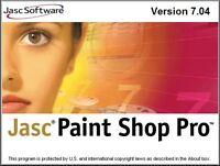 JASC Paint Shop pro 7 10th Anniversary Edition w/ animation shop 3