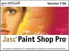 JASC Paint Shop pro 7 10th Anniversary Edition w/ animation shop 3