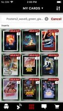 Topps Star Wars Digital Card Trader 9 Card Green Glass Posters 2 - Wave 5 Set