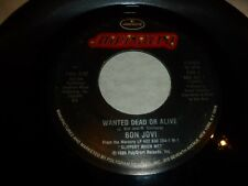 "BON JOVI - Wanted Dead Or Alive - 1986 USA 2-track 7"" Juke Box Vinyl Single"
