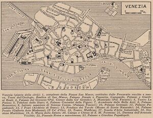 G9053 Plant Of City Of Venice - 1953 Map Period - Vintage Map