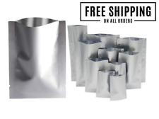 NEW HEAT SEAL ALUMINIUM FOIL BAGS POUCHES SACHETS FOODGRADE SMELLFREE - CHEAPEST