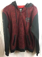 Men's Ecko Unltd Hoodie, Black and Red, Size Medium, Brand New with Tags