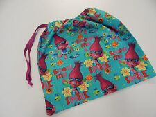 Library Bag Poppy Troll Swimming Kindy Drawstring Tote PRINT ON BOTH SIDES!!