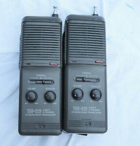 Realistic Walkie Talkie TRC-223 2 Watt 3 Channel (Set Of 2) Tested fine Exc Cond