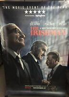 The Irishman Bus Shelter Poster and Lobby Cards De Niro Pacino Pesci Scorsese