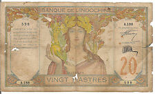 FRENCH INDO - CHINA, 20 PIASTRES,  ND